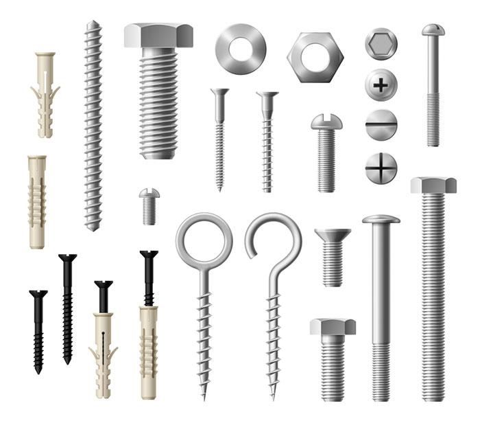 Fasteners (Nails, Screws, Bolts)